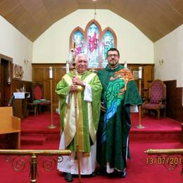 Bishop David Ashdown and Father Wayne MacIntosh.
